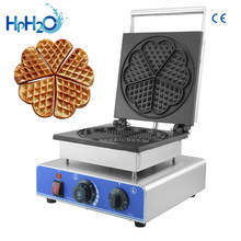 Commercial 5pcs heart shaped waffle maker waffle iron machine electric waffle cake bakery oven waffle making machine(China)