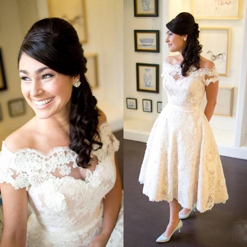 A Line Bride Wedding Dress 2019 Off The Shoulder Lace Appliques Bridal Gown Wedding Dresses Vestido De Noiva Robe De Mariee