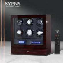 Вращающаяся шкатулка для часов с 6 слотами автоматические часы