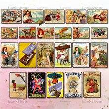 Cartel Vintage de Chocolate, letrero de Metal para dulces, antiguo anuncio, Bar de pared, arte para el hogar, tienda de cocina, Decoración Retro