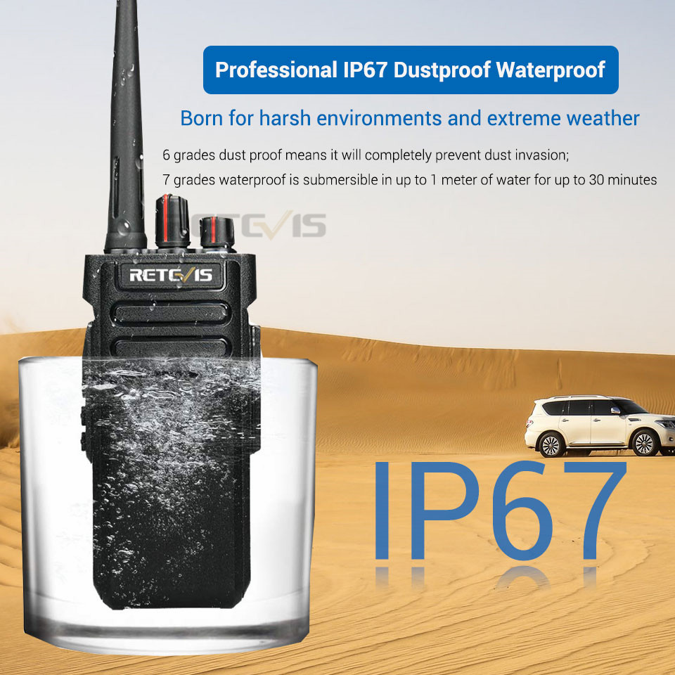 Image 2 - 2pcs Powerful Walkie Talkie Handy RETEVIS RT29 UHF (or VHF) IP67 Waterproof (optional) Long Range Two Way Radio Comunicador-in Walkie Talkie from Cellphones & Telecommunications
