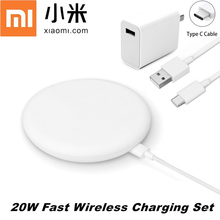 Original XiaoMi 10 Wireless Charger Original 20W Max Quick Qi Epp Smart Charge Pad For Mi 9T 10 pro Mix 3 2s iPhone 12 11 XS XR