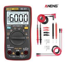 مقياس رقمي متعدد AN8002 من ANENG متعدد 6000 جهاز متعدد الفاحص ترانزستور رقمي احترافي مكثف اختبار lcr esrmeter