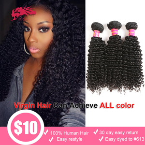 Image 1 - 3Pcs Lot Brazilian Kinky Curly Hair Weave Bundles 100% Unprocessed Human Hair 24 26 28 Inch Curly Double Drawn Raw Virgin Hair