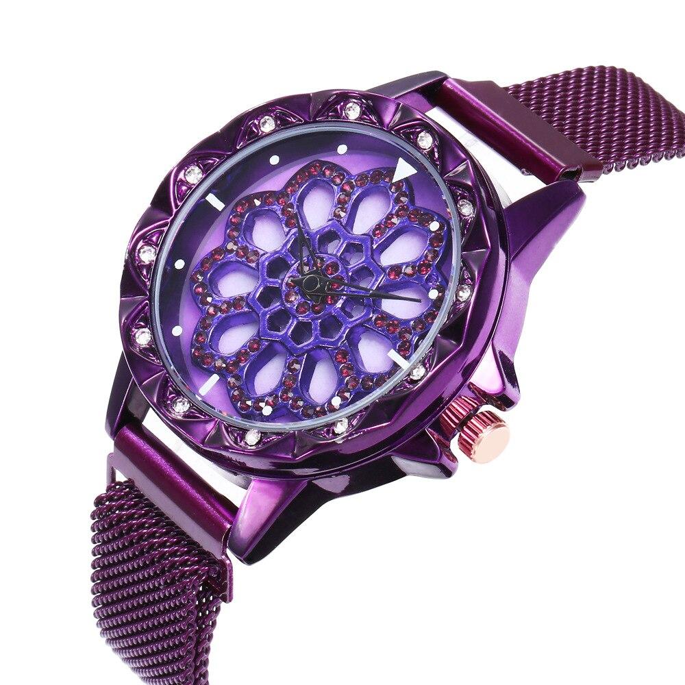 Montre à bracelet aimanté et à cadran tournant detail