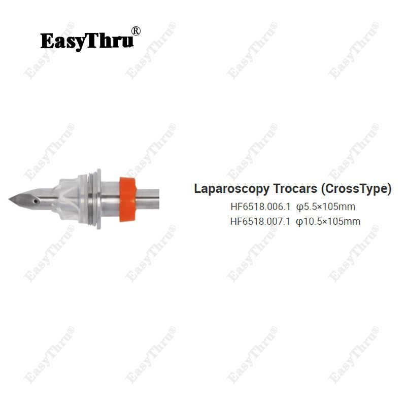 Medical Endoscopic Laparoscopic เครื่องมือผ่าตัดสแตนเลส Laparoscopy Trocar (ข้าม) เจาะ