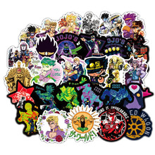 50 Pcs Anime JoJo Bizarre Adventure Stickers Cosplay Accessories Prop PVC Waterproof Cartoon Decal Sticker