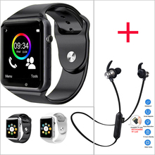 Electronics WristWatch Bluetooth Smart Watch Men Sport Pedometer with SIM Camera Smartwatch for Android ios Smartphone Earphone цена