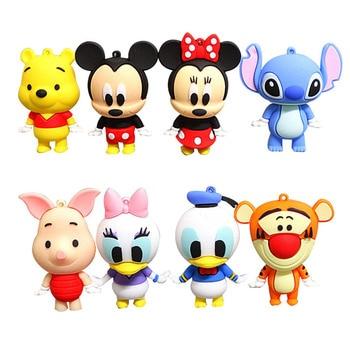 8 teile/satz Disney Mickey Minnie Donald Duck Stich Tiger Pooh Bär Abbildung Modell Desktop Ornamente Dekorative Puppe Kinder Cartoon Spielzeug