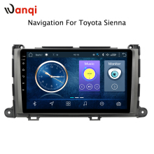 9 inch Android 8,1 auto-navigation multimedia-system für Toyota Sienna 2010-2014 auto gps dvd radio video player RDS monitor din