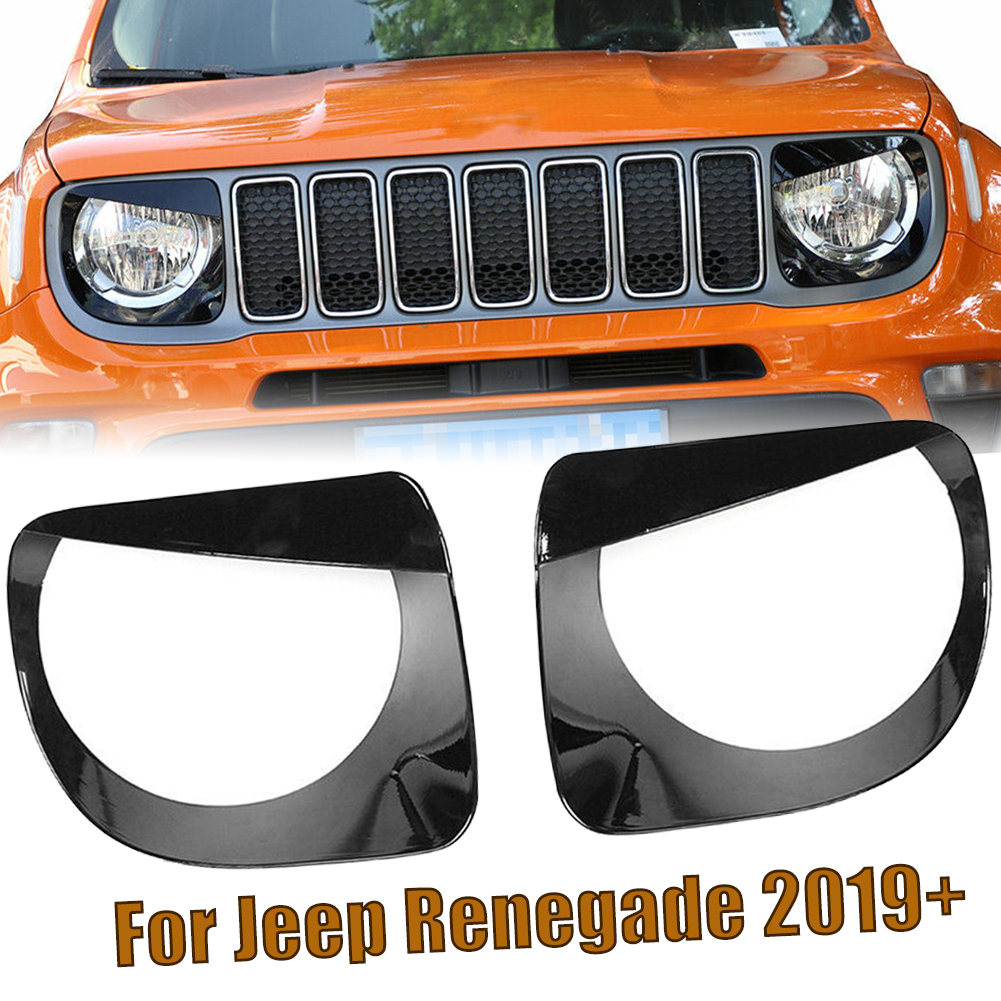 Front Light Headlight Lamp Angry Eyes Trim Cover For Jeep Renegade 2019 Up