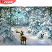 HUACAN 5D DIY Weihnachten Diamant Malerei Deer Diamant Mosaik winter Diamant Stickerei Kreuz Stich Wohnkultur