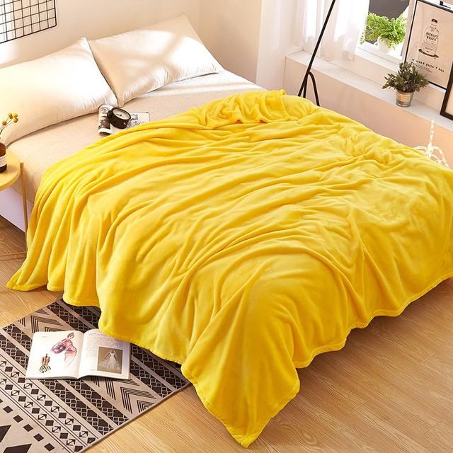 Claroom Sherpa Blanket Solid Coral Fleece Blankets For Beds 200x230cm Large Adult Blanket Sofa Blanket XE93#