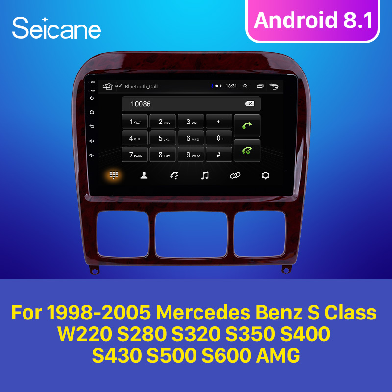 Seicane 2GB Car <font><b>GPS</b></font> Unit Player Stereo Android 8.1 <font><b>For</b></font> 1998-2005 <font><b>Mercedes</b></font> Benz S Class W220 S280 S320 S350 S400 S430 <font><b>S500</b></font> S600 image