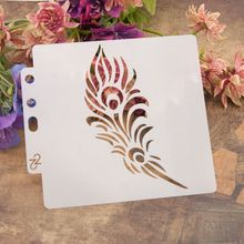Leaf Stencils Template Painting Scrapbooking Embossing Stamping Album Craft DIY M89A