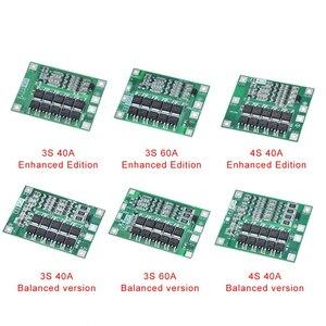 Защитная плата 3S/4S 40A/60A 18650 BMS, для зарядки литий ионных батарей, для двигателя перфоратора, 11,1 В/12,6 В/14,8 В/16,8 В с увеличителем/балансиром|Интегральные схемы|   | АлиЭкспресс