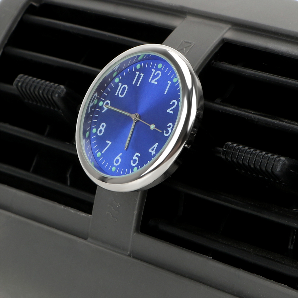 LEEPEE Car Clock Quartz Clocks Analog Watch Auto Accessories Ornaments Luminous Air Outlet Decoration