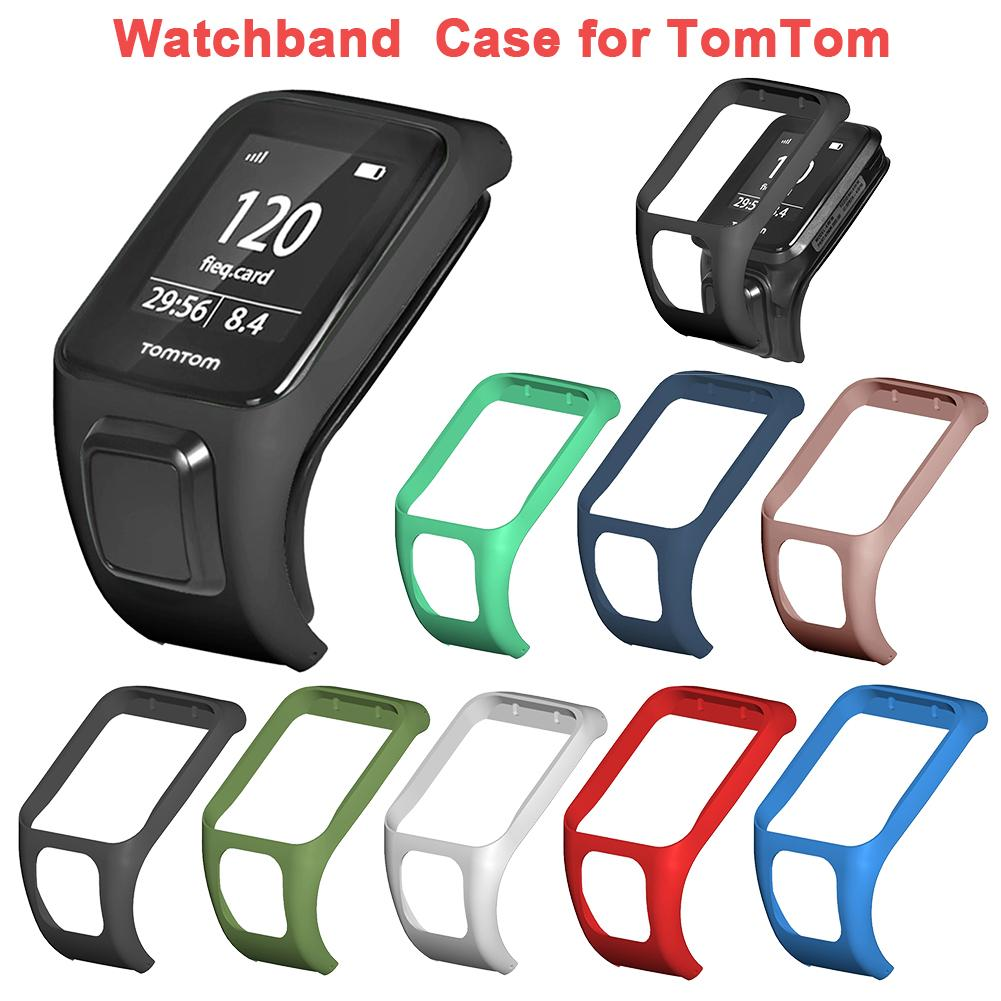 Watchband Case For TOMTOM Silicone Wrist Band Bracelet Strap Cardio Case For Adventure Series 2 3 Runner 2 3 Golfer 2 Watch
