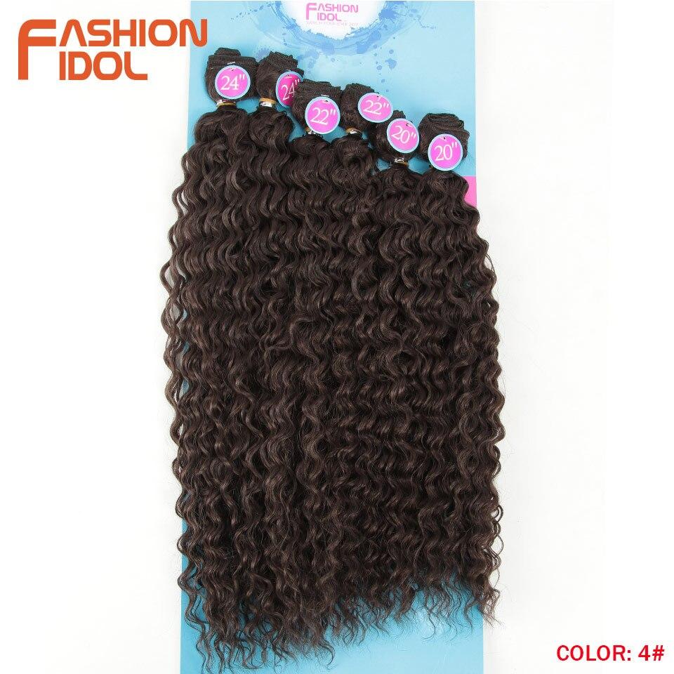 sintético natureza cor 6 pc 20 22 24 polegada cabelo
