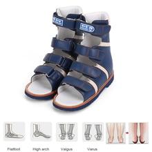 Ortoluckland נעליים אורתופדיות לילדים ילדי בני סנדלי האחרון מקורי גבוהה קרסול סנדלי טיפול עור נעליים לילדים