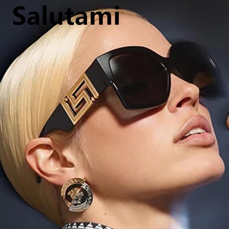 Vintage Oversized Black Leopard Square Sunglasses For Women Luxury Brand Graidient Sun Glasses Female Elegant Big Shades 2021