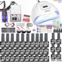 30 stücke Nagel Gel Polnischen Set Kit 80W UV LED Lampe Maniküre Set Nail art Salon Für Maniküre Werkzeuge mit Nagel Bohrer Maschine