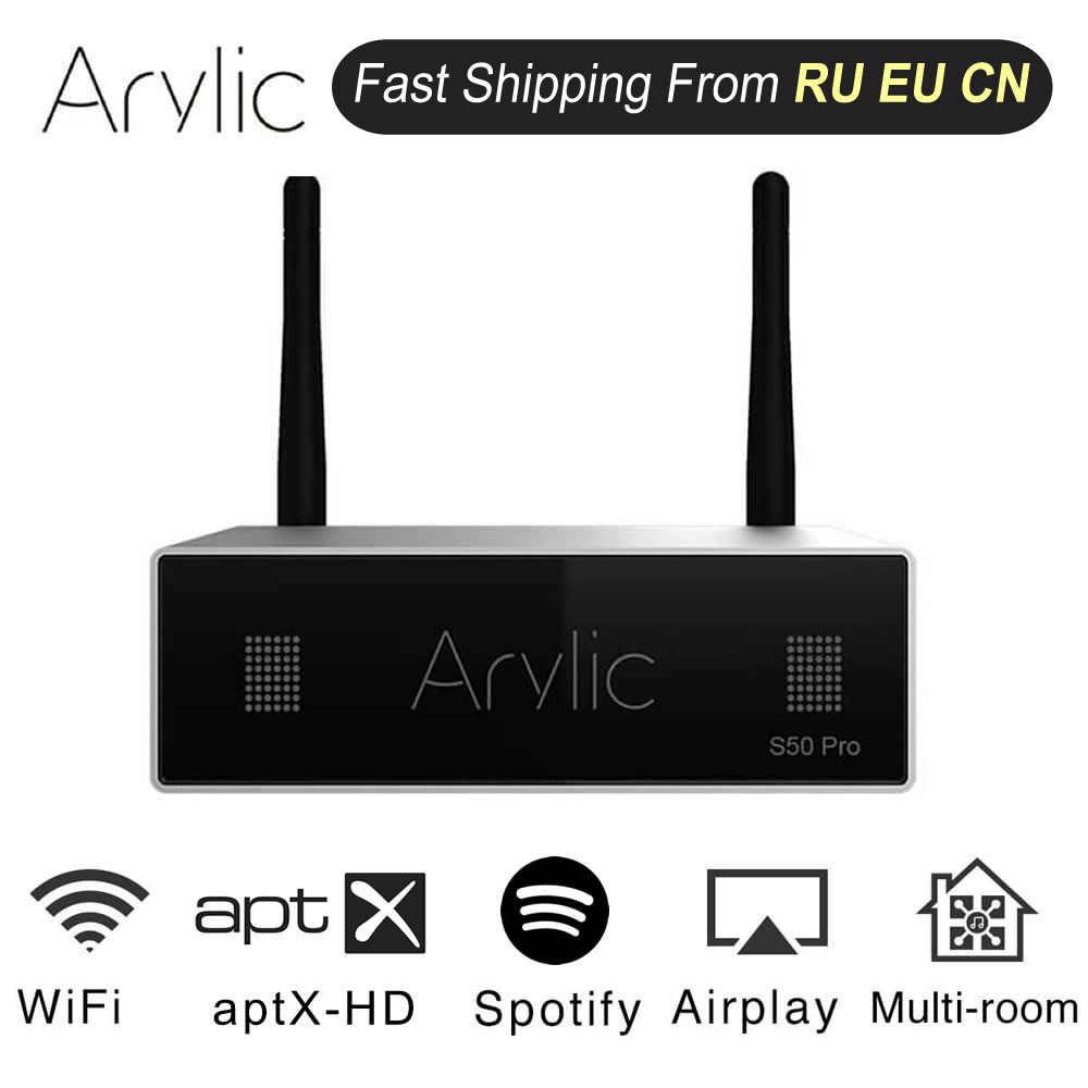 Akrylowy S50 Pro WiFi i aptX HD przedwzmacniacz z ESS saber Dac AKM ADC Multiroom Airplay Spotify pływowe Radio internetowe