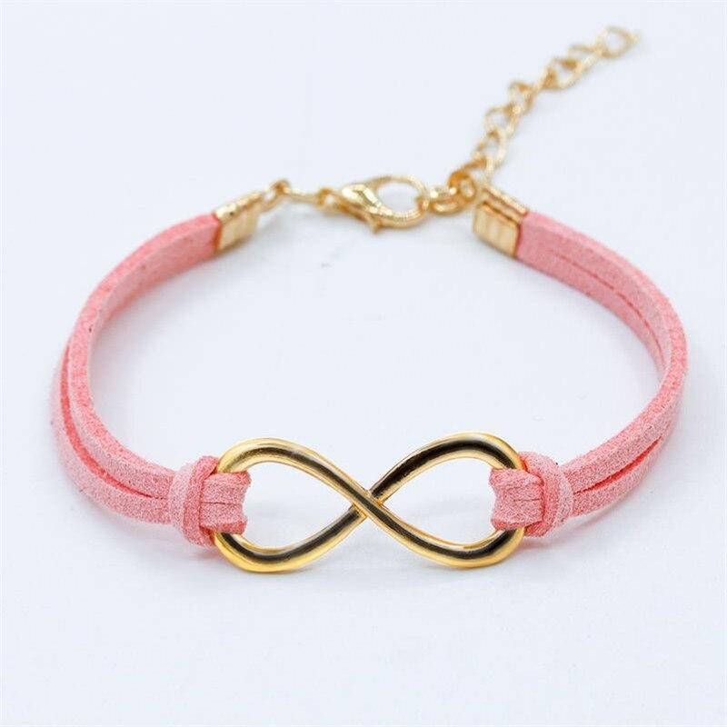 Hot European Cheap Punk Fashion Vintage Infinity 8 Cross Leather Charm Bracelets Women Gift Rope Bangles Men Jewelry Pulseras