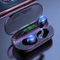 Auriculares inalámbricos Bluetooth 5,0, Auriculares deportivos, auriculares estéreo HiFi 3D con micrófono manos libres, teléfono móvil de ouvido 2000mAh de potencia
