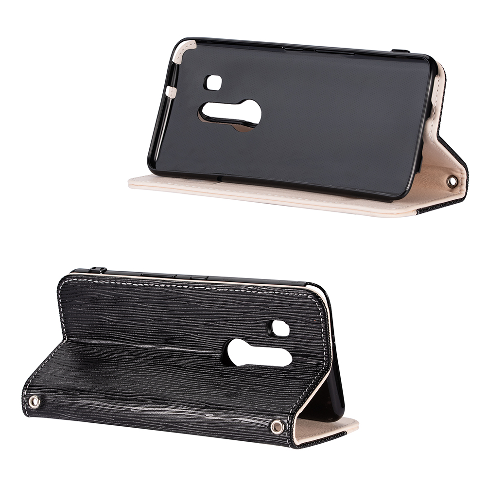 Kickstand Flip cover Case for Fujitsu F 02L F 04K ARROWS U Case Adsorption Flip protective case Lanyard insertable card Black in Flip Cases from Cellphones Telecommunications
