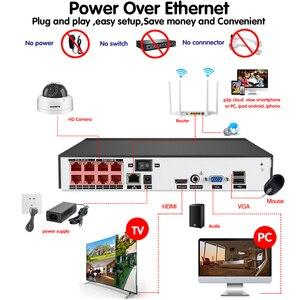 Image 3 - H.265 POE NVR 8CH IP كاميرا 16CH 5MP نظام 8 قطعة 48 فولت سوبر واضح 4MP الأمن قبة IP طقم كاميرا CCTV المراقبة بالفيديو NVR مجموعة