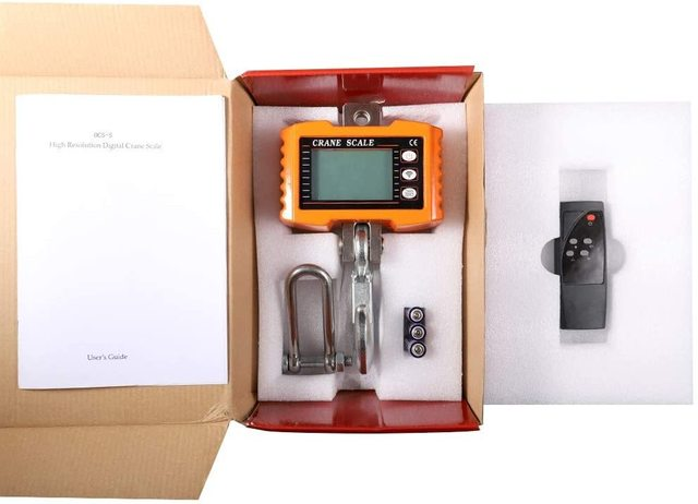 1000KG Digital Hanging Hook Scale Portable Industrial Heavy Duty Crane Scale With Accurate Reloading Spring Sensor LED Display 6