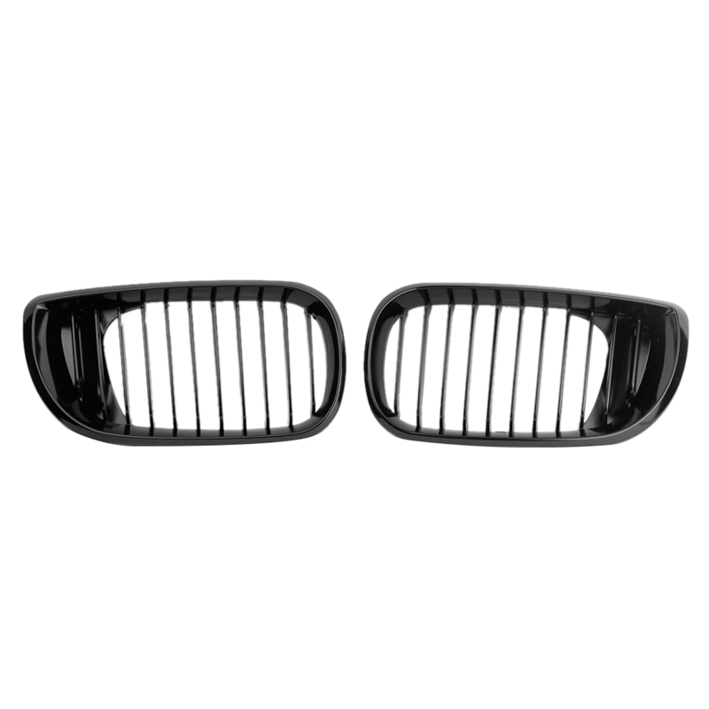 Car Gloss Bright Black Mesh Grille For Bmw E46 3 Series 4 Door 2002-2005 For Cars