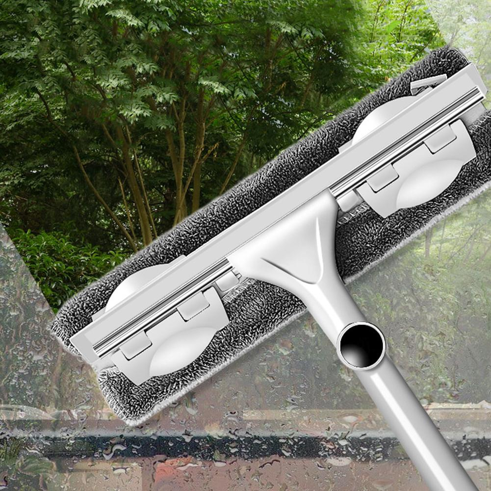 Double Sides Glass Cleaning Brush Telescopic High-rise Window Cleaner Wiper Glass Cleaning Tool Double-sided Telescopic