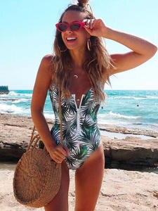 Sport Bodysuit Zipper White Women Monokini One-Piece Beach New Red Striped