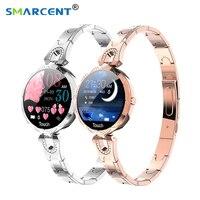 NEW AK15 Smart Bracelet Watch Women 2019 ladies fashion Waterproof blood pressure blood Bluetooth Fitness Tracker Bracelet Clock