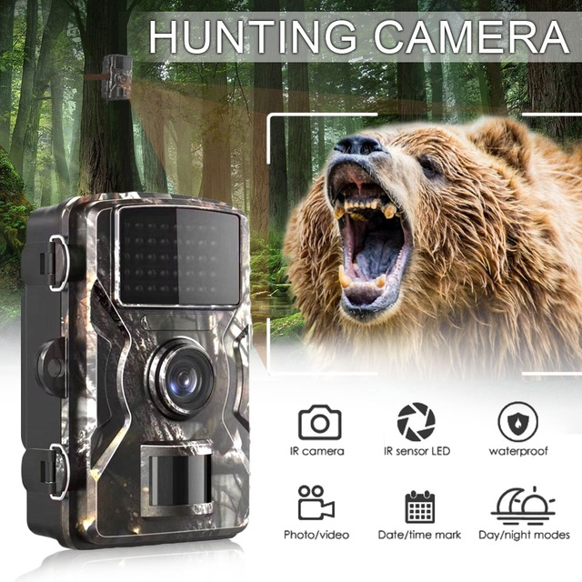 DL-100 Trail Camera Forest Camera 12MP 1080P Wildcamera Tracing Game IP66 Night Vision Hunting Camera Photo-Trap Thermal Imager 2