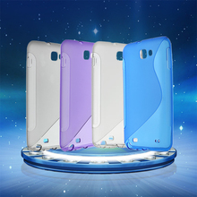 Mobile Phone Soft TPU Gel Protective Skin Case Cover For Samsung Galaxy Note i9220 s style protective tpu back case for samsung galaxy note 3 n9000 white