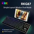 Механическая игровая клавиатура RK ROYAL KLUDGE G87 с RGB подсветкой, Bluetooth, беспроводная/USB, 87 клавиш, коричневая/красная ось для ноутбука