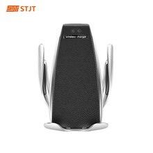S5 Caricabatteria Per Auto Senza Fili di Ricarica Veloce IR 10W Automatico di Bloccaggio Senza Fili Caricabatteria Da Auto Mount Magnetica del Qi Supporto Del Telefono Per mobile