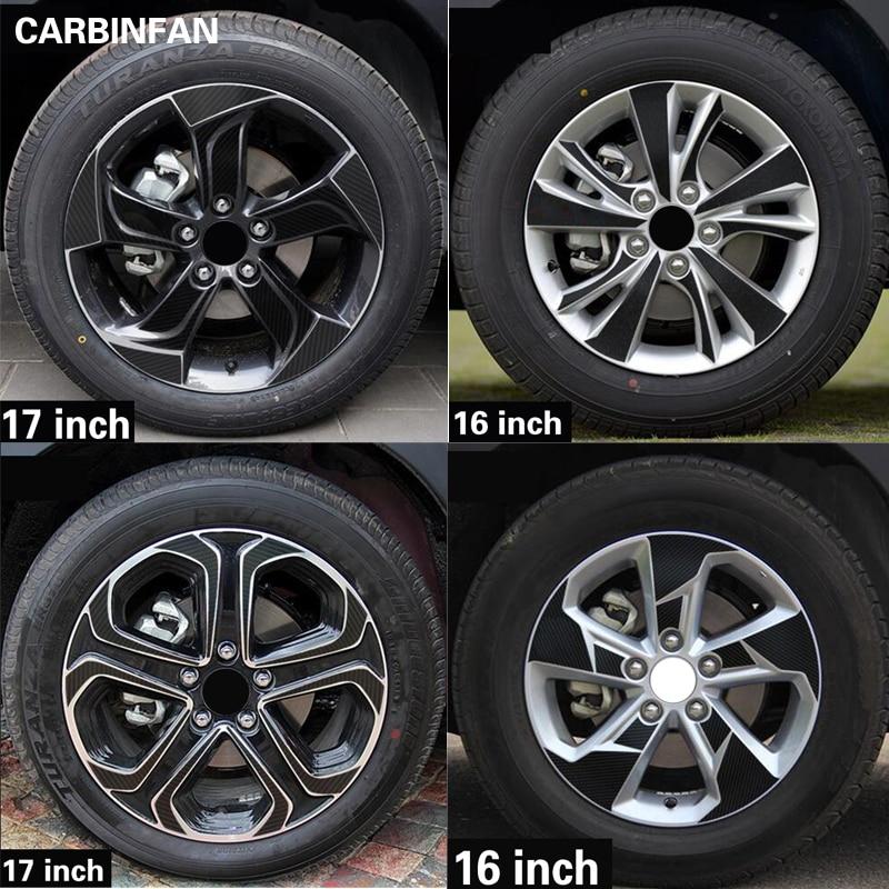 16 17 Inch Carbon Fiber Wheel Rim Sticker Wheel Hub Waterproof Sticker For Honda Vezel Hr V Hrv 2014 2015 2016 2017 2018 2019 Car Stickers Aliexpress