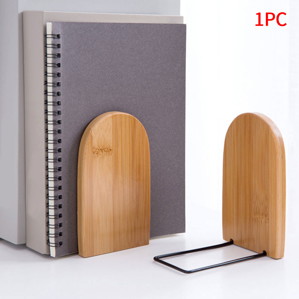 Portable School Document Holder Desk Organizer Gift Storage Stationery Bamboo Wood Office Home Book Ends Nonskid Students