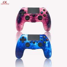 K ISHAKO Bluetooth Gamepad Wireless PS4 Controller built-in speaker/touch pad/6-axis FOR PS4/PS4 Pro/PS4 Slim PS3/ PS2 USB cable цена