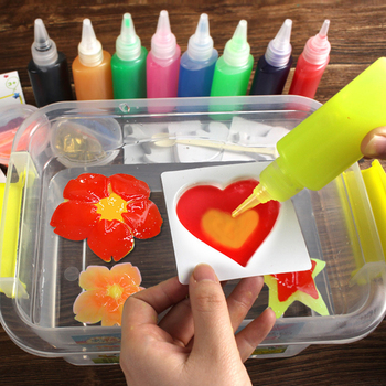 Kids Handmade DIY Craft Painting Stickers Toys Montessori Education Origami Magic Water Elves Kit Set Toys For Children Gift