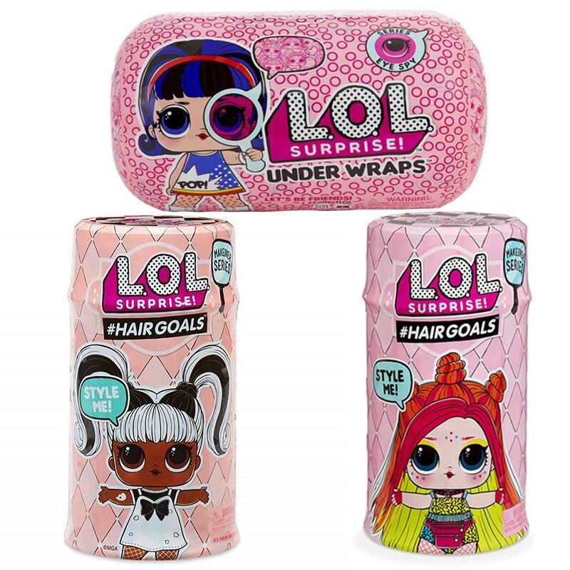 Überraschung Puppen Farbe Ändern Ei Konfetti pop Serie Kleid LOL Puppe Ball Action-figur Kinder Spielzeug Für Kinder Weihnachten