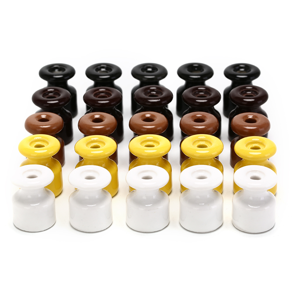 5pcs/lot For Wall Wiring High Frequency 5 Colors Electric Porcelain Ceramic Insulator Ceramic Insulators Porcelain Insulator
