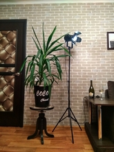 2PACK industriel créatif rétro trépied noir lampadaire lumières chambre lumières Stand lampes