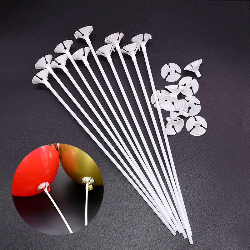 30 см латексные воздушные шары палочки белый держатель воздушных шаров палочки с чашкой свадьба день рождения партии надувные шары украшени...