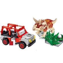 Jurassic World Dinosaurs Park theft Triceratops Eggs Figures Building Blocks Toys For Children Compatible Dinosaur Sets blocks toy loz mini kids blocks jurassic world building blocks lot huge dinosaurs jurassic park christmas toys for children