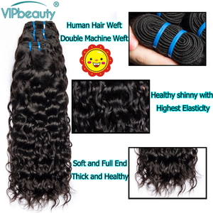 Image 4 - Indian Water Wave Remy Hair Extension Human Hair Weave Bundles Natural Color 1B Can Be Dyed 8   26 28 30 inch 3 4 Bundle Deals